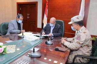 محافظة سوهاج:توقيع بروتوكول تعاون مع الهيئة  الهندسية وجامعة سوهاج لضمان تنفيذ المشروع القومي لتطوير  الريف